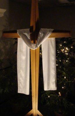 Fellowship Hall Cross - White - Jeff Weaver