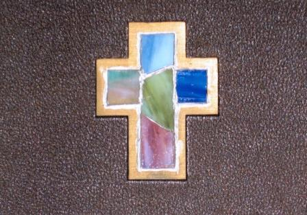 Stained Glass Cross - Market St Stairwell - Ruth Bertovich