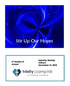 Bulletin-2018-12-15-PM-0530-SAT-Advent 3 – Trinity Camp Hill